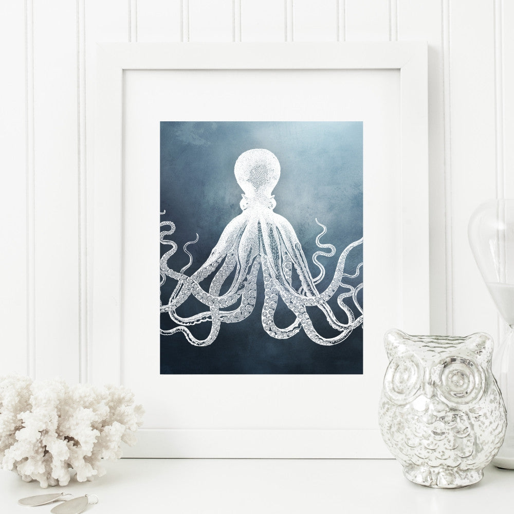 Octopus Blue Wall Decor