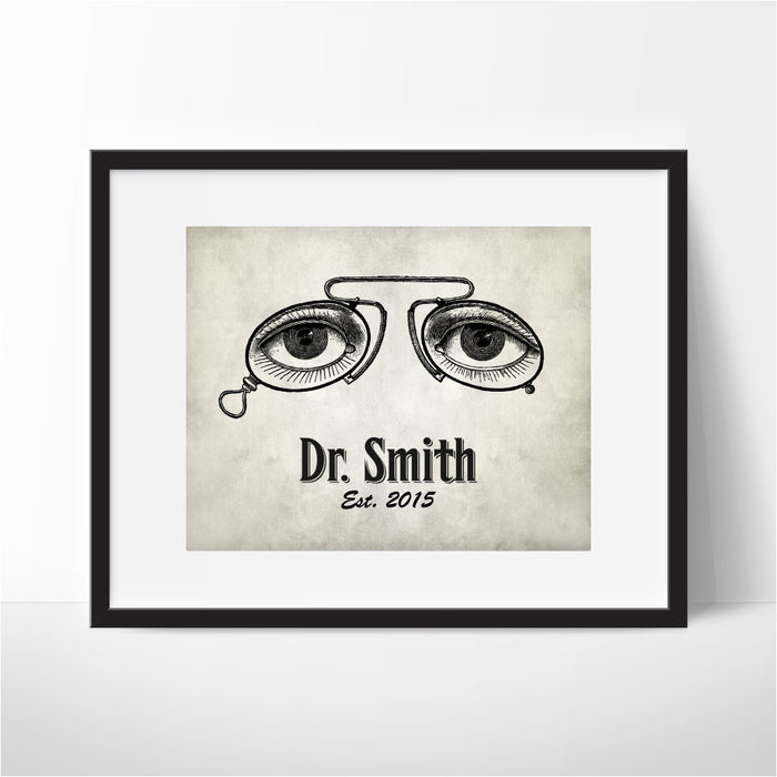 Personalized Optometrist Eye Doctor Wall Art
