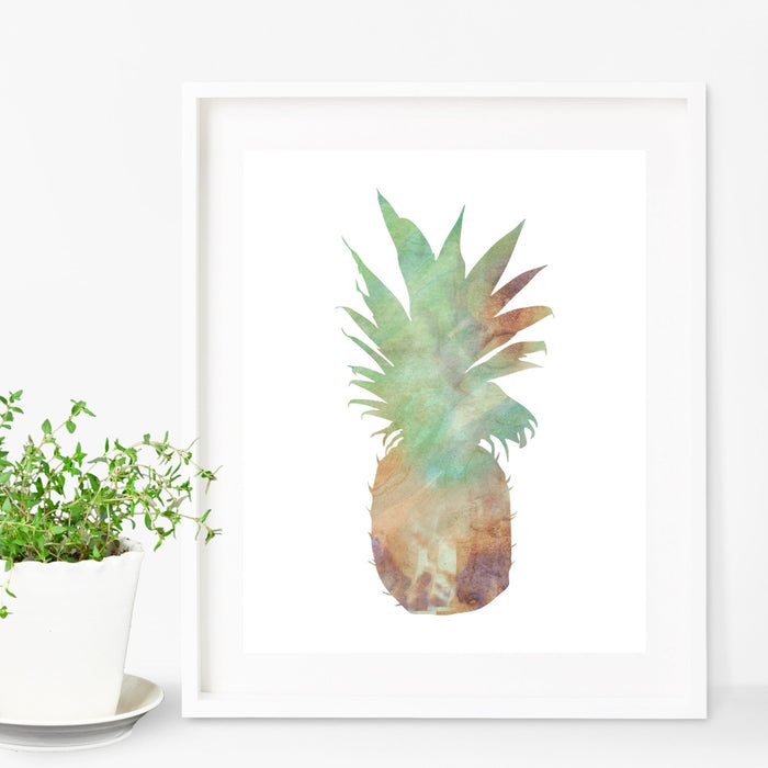 Pineapple Wall Art Watercolor