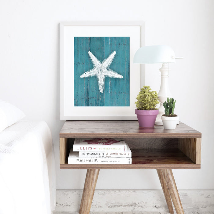 Starfish Wall Art in Teal