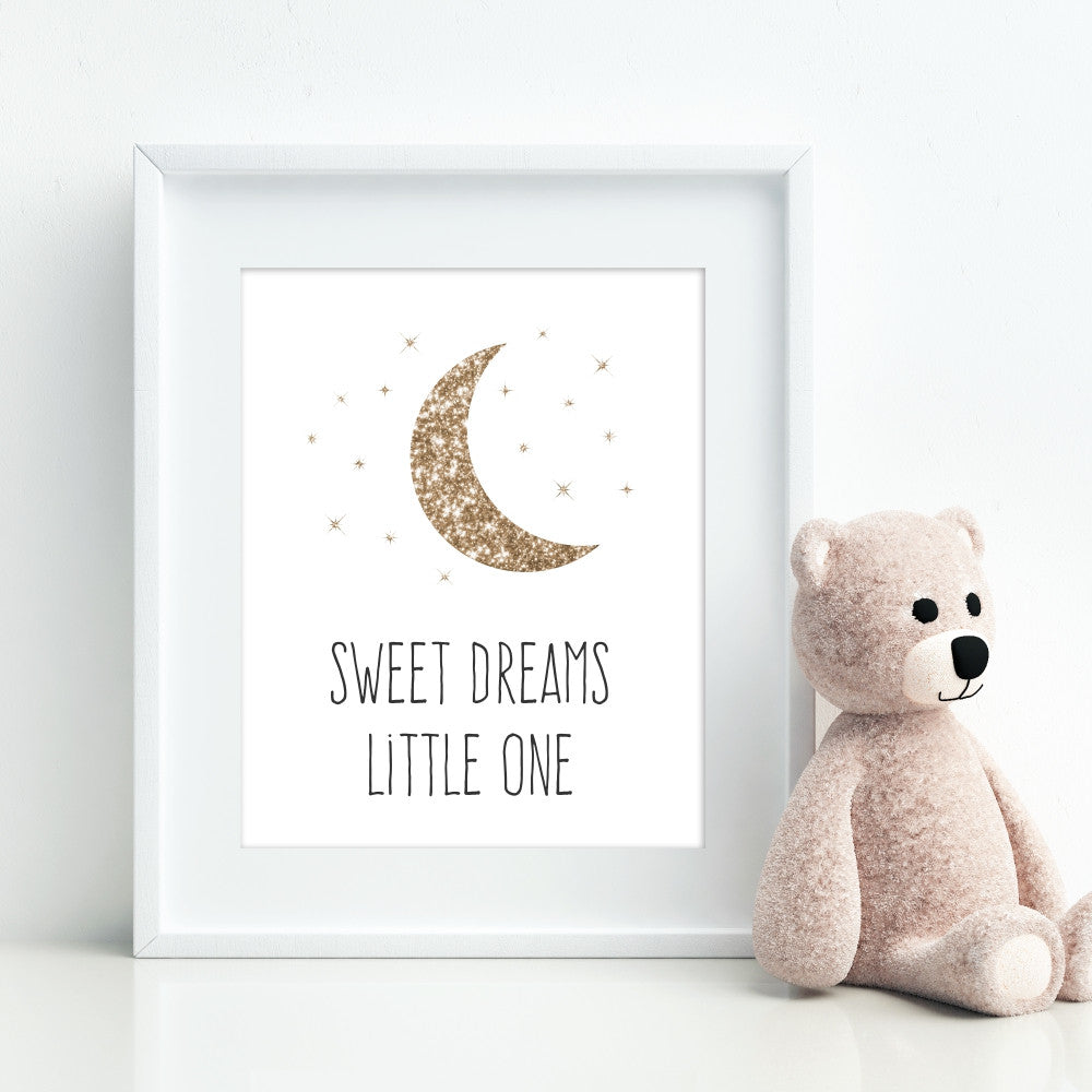 Silver Sweet Dreams Little One Wall Art