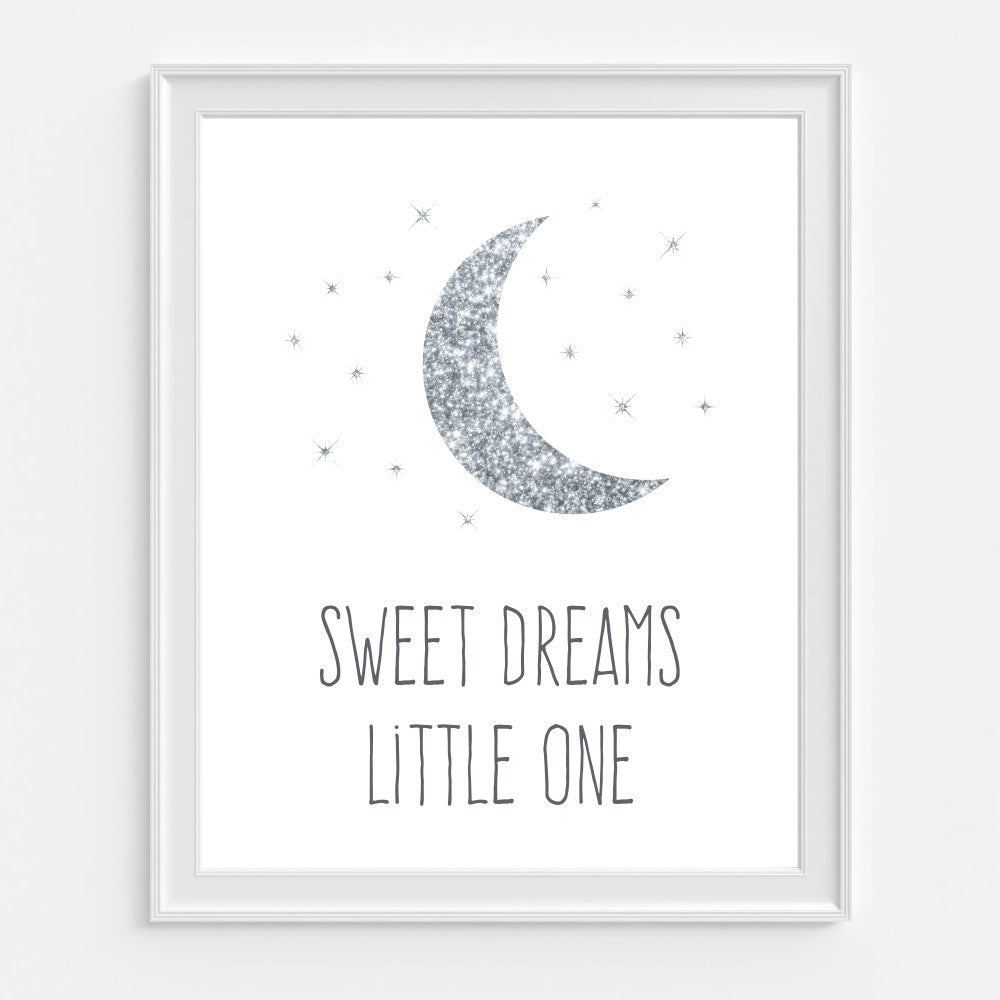 Glitter Sweet Dreams Little One Art Print