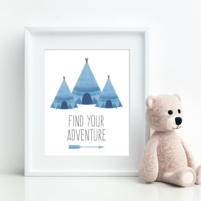 Teepee Wall Art Find Your Adventure