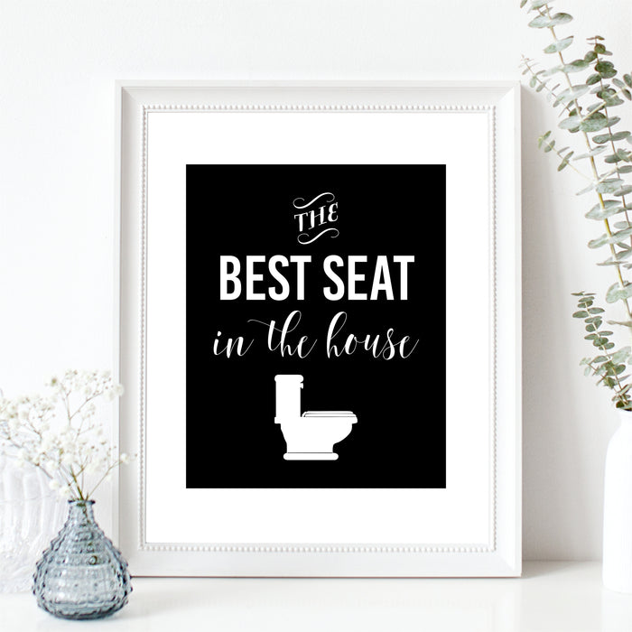 The Best Seat In The House Wall Art Funny Bathroom Art Toilet Humor