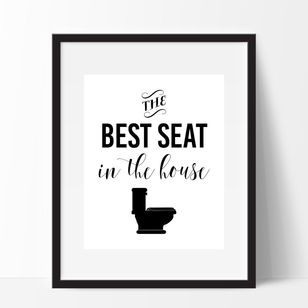 The Best Seat In The House Wall Art Funny Bathroom Print