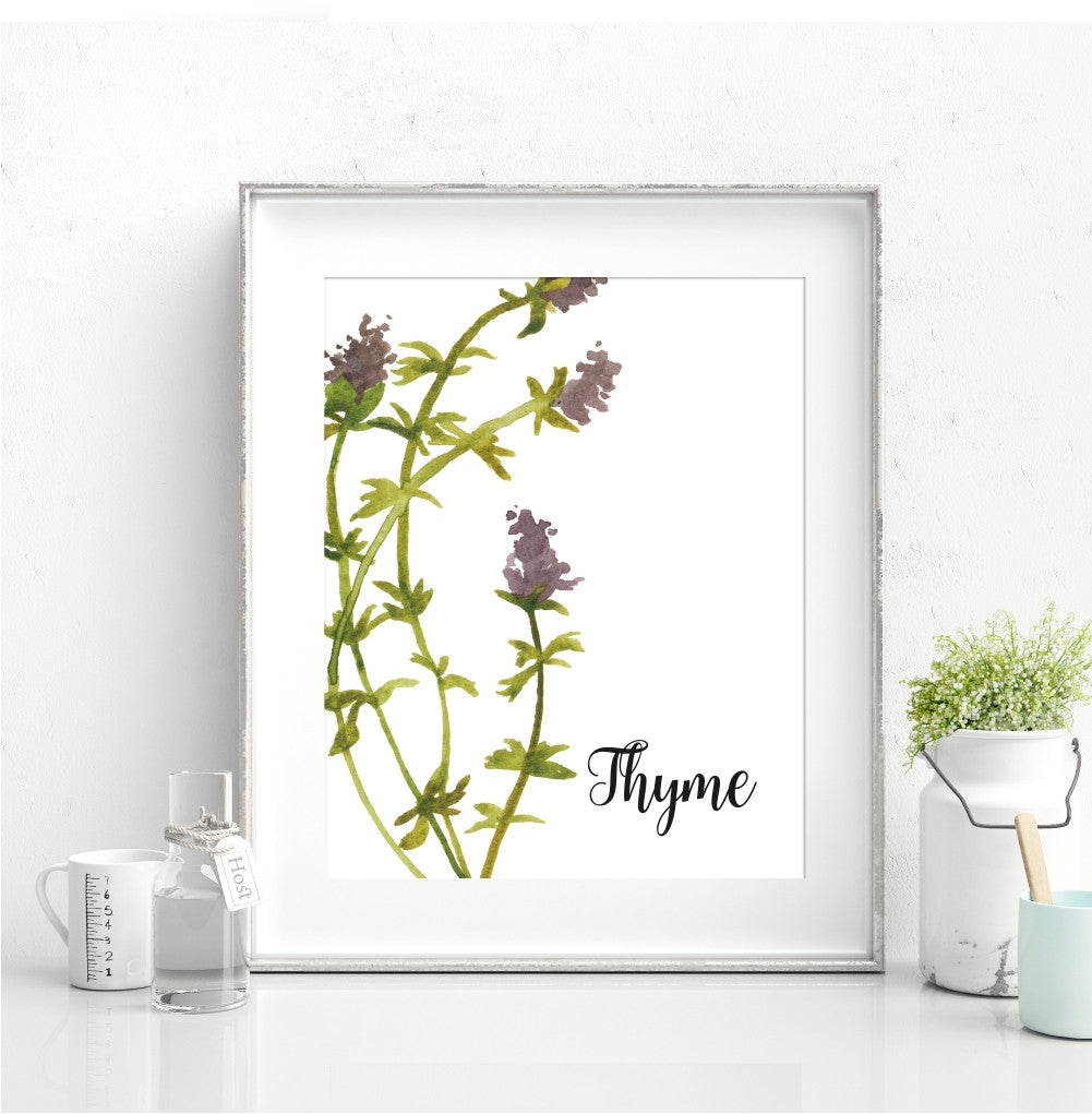 Watercolor Thyme Wall Art