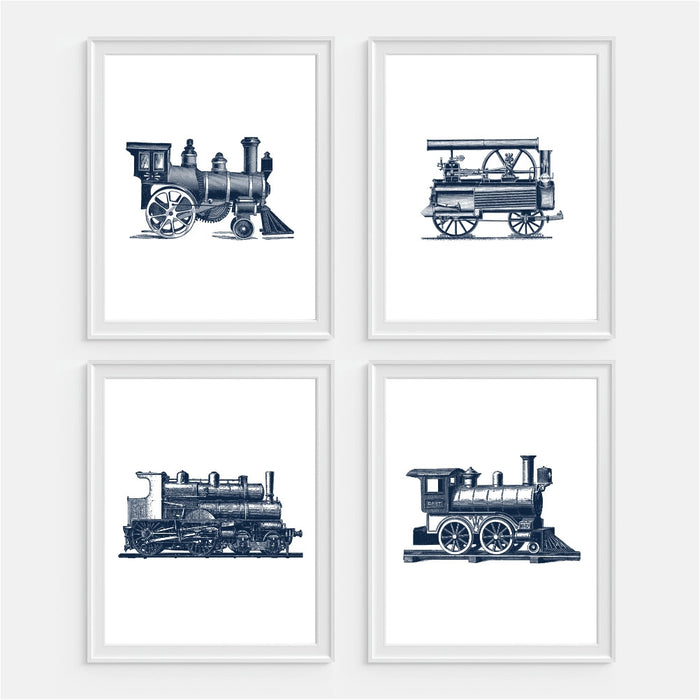 Train Wall Art - Set of Four