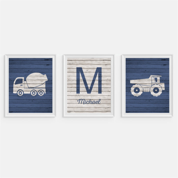 Dump Truck Wall Art Personalized Print