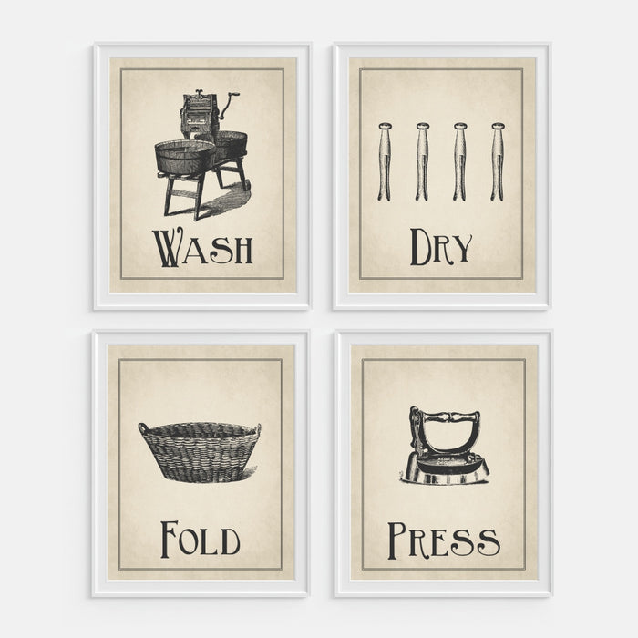 Wash Dry Fold Press Wall Art Print