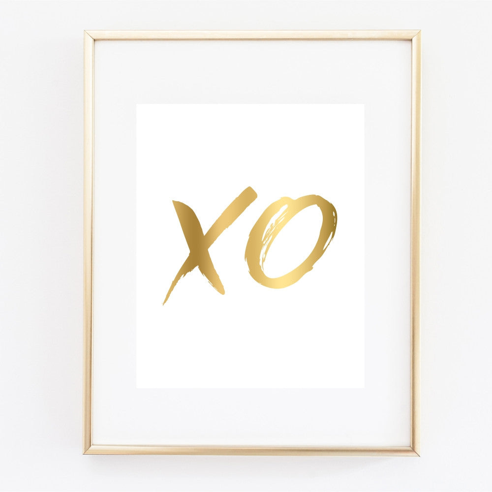 XO Gold Wall Art
