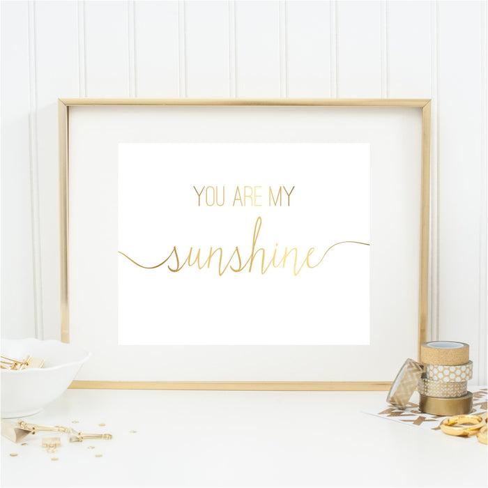 You Are My Sunshine Gold Wall Art