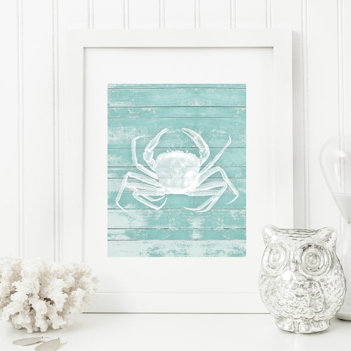 Crab Wall Decor in Teal
