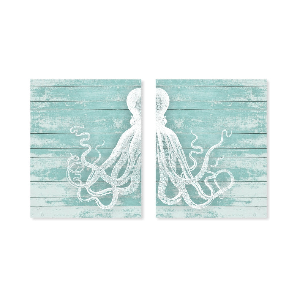 Octopus Wall Art on a wood background