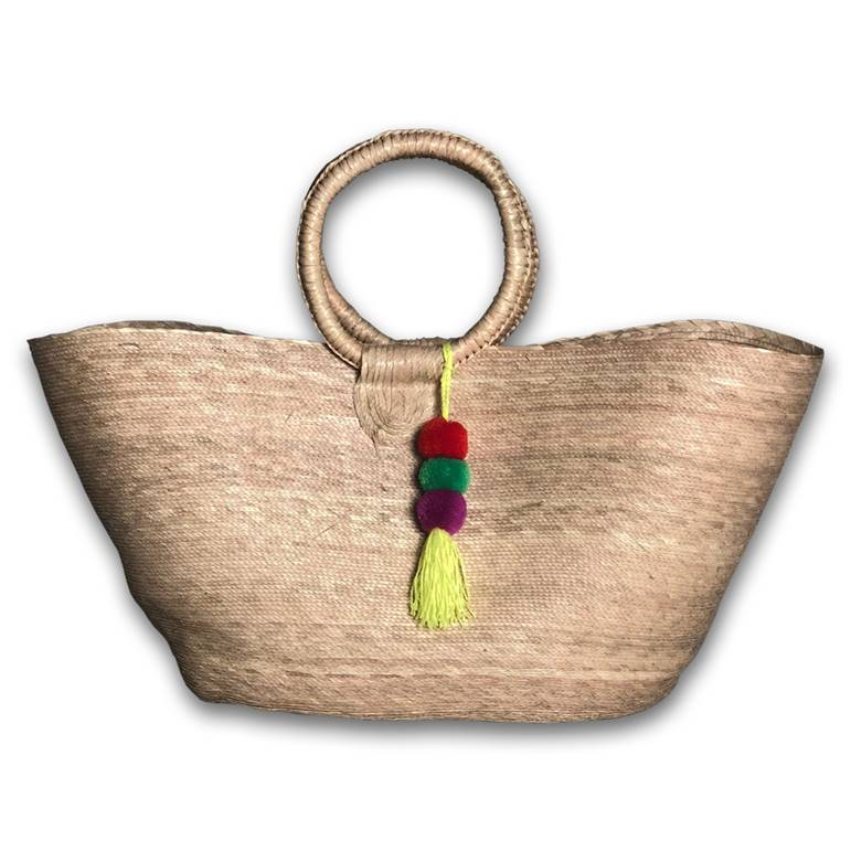 Circle Handle Beach Basket