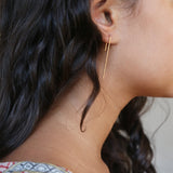 Minimal and modern angled line earrings.