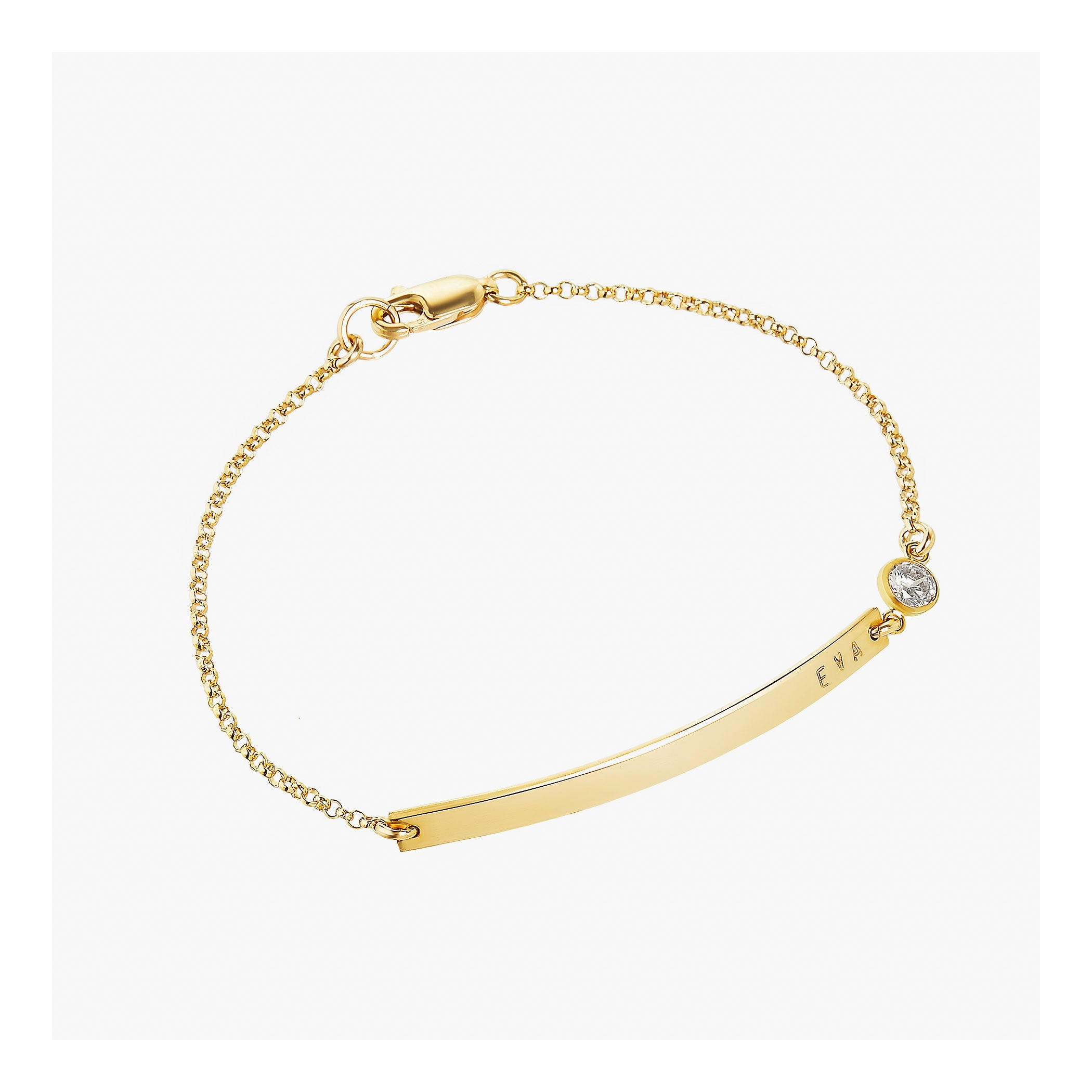 Personalized bar bracelet with birthstone, 14k gold filled or sterling silver