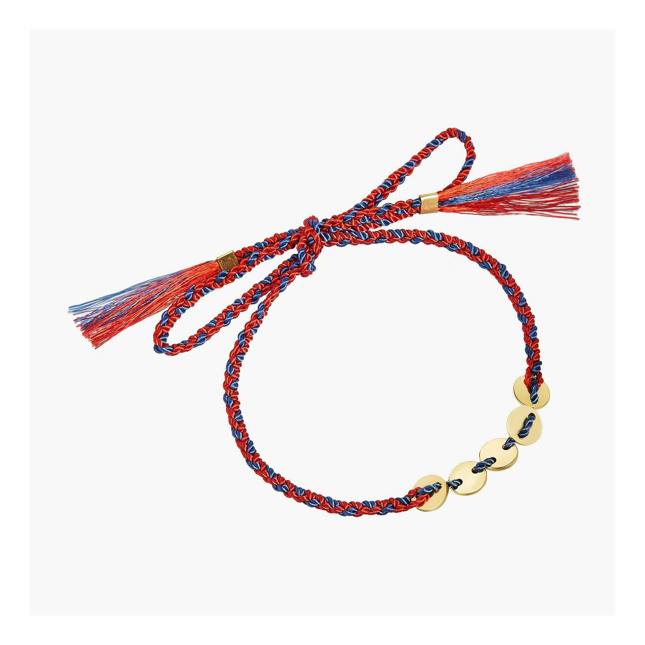 Multi Disc Sequin Bracelet with braided cord