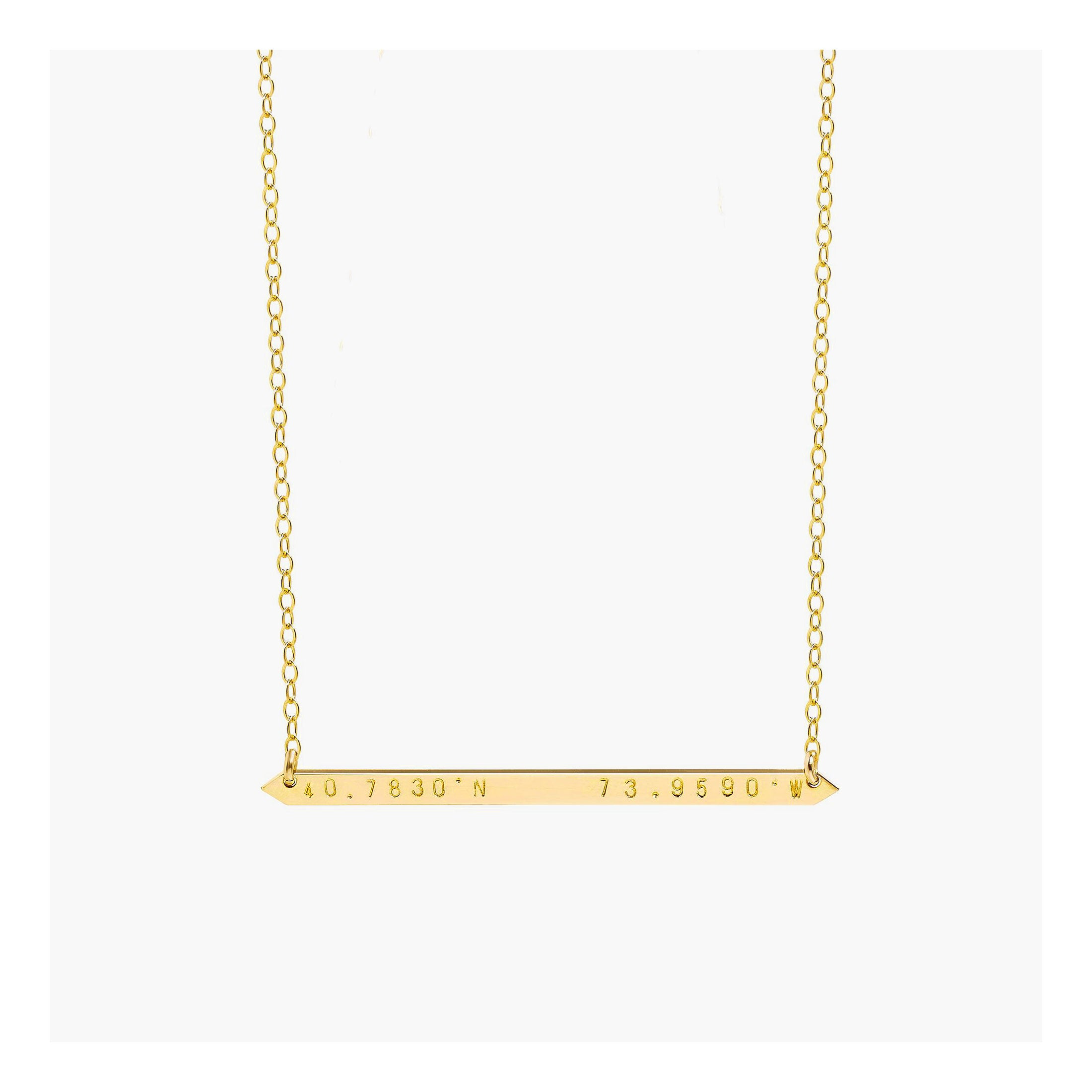 14k gold filled coordinates necklace