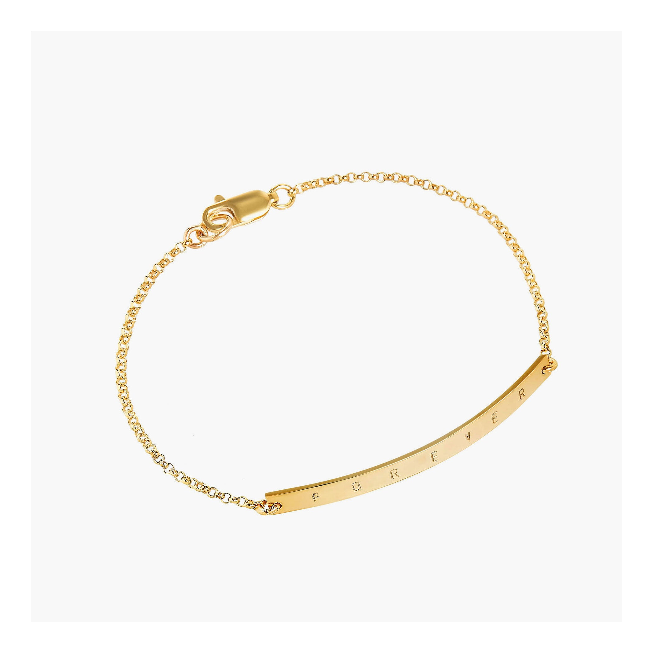 Custom gold bar bracelet