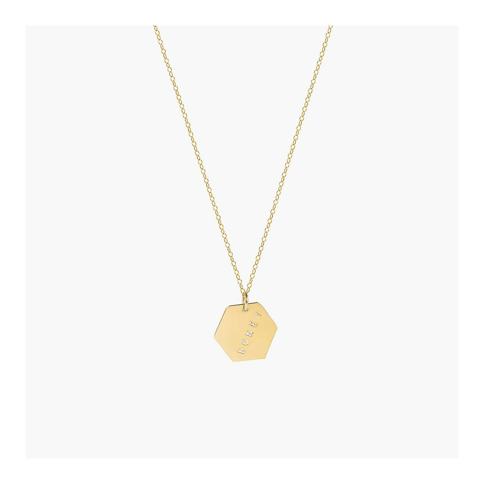 Hexagon necklace | Personalized pendant necklace | 14k gold filled