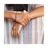 Boho chic Multi Disc Bracelet with Braided Cord