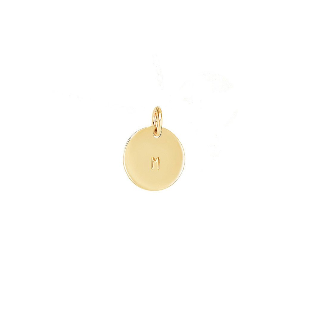 Small Initial Necklace Pendant