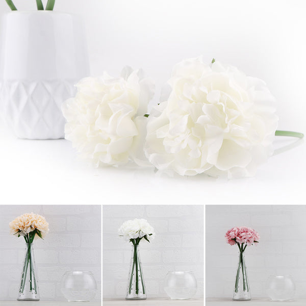 Artificial Peony Flower Fake Floral Hydrangea Real Touch for Wedding Bridal Bouquet Party Home Decor flowers & wreaths