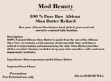 100% Pure Raw African Shea Butter