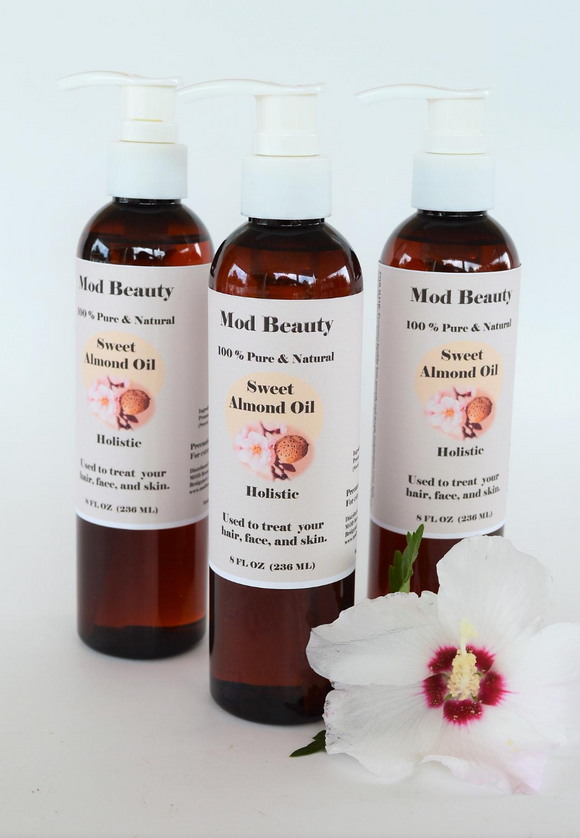 100% Pure Sweet Almond Oil 8oz
