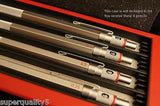 rotring 600 Drafting Mechanical pencil set Silver Made In Germany No Box