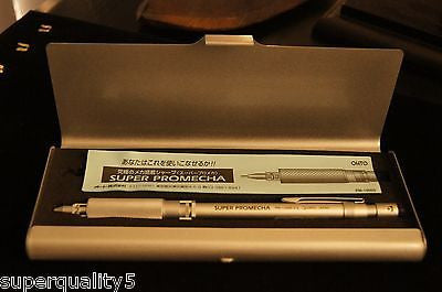 SUPER PROMECHA OHTO 0.5 mm PM-1005S Drafting Mechanical Pencil +Box Silver Color