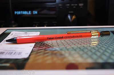 Faber Castell CONTURA XL 0.5 Red mechanical pencil made in Germany Vintage NEW
