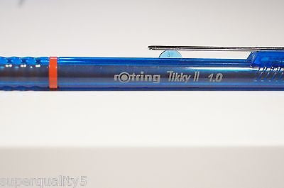 rotring tikky II Mechanical pencil 1.0  Special Edition Translucen Blue Germany