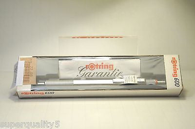 Rotring 600 Ballpoint Pen Silver, Red label Knurled  New, Collectors Rare
