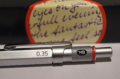 rotring 600 0.35 mm ( 0.3 ) Germany silver Drafting Mechanical Pencil NEW BOX
