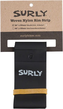 Surly Rim Strip: For Other Brother Darryl Rim, Nylon, 50mm wide, Black