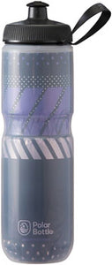 Polar Bottles Sport Tempo Insulated Water Bottle - 24oz, Charcoal/Pink