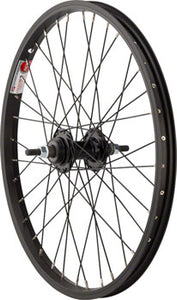 "Sta-Tru Rear Wheel 20"" x 1.75"" Solid Axle, 36 Spokes, Includes Axle Nuts, Black"