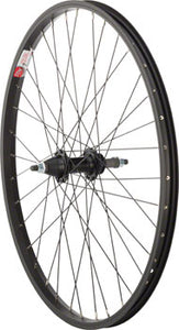 "Sta-Tru Rear Wheel 24"" x 1.5"" Solid Axle, 36 Spokes, 5-8 Speed Freewheel, Includes Axle Nuts, Black"