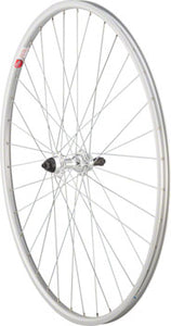 Sta-Tru Rear Wheel 700 x 25mm Quick-Release Axle, 36 Spokes, Alloy Road 5-8 Speed Freewheel, Silver