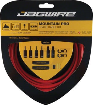 Jagwire Mountain Pro Brake Cable Kit, Red