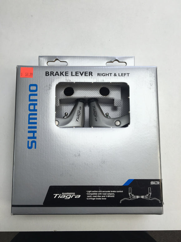 Shimano Tiagra 4600 Flat Bar Road Brake Lever Set Silver
