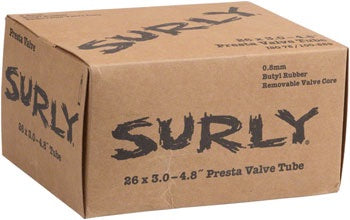 "Surly Plus Fat Bike Tube: 26+, 26 x 3.0-4.8"", Presta Valve"