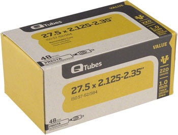 Q-Tubes Value Series Tube with 48mm Presta Valve: 27.5 x 2.125-2.35""