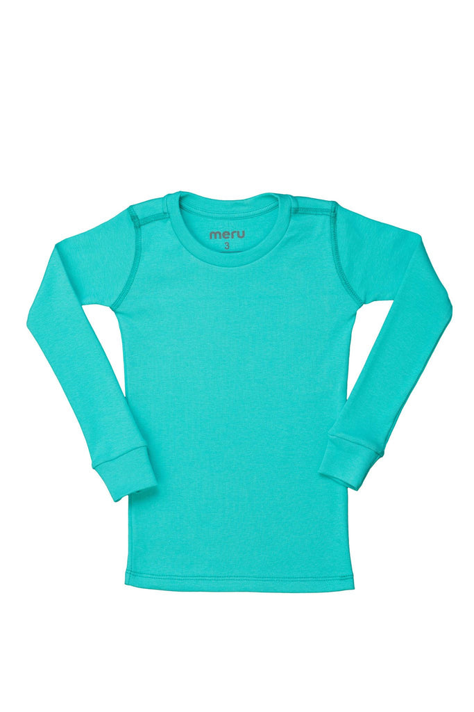 Solid Green Mint PJ Top - Meru