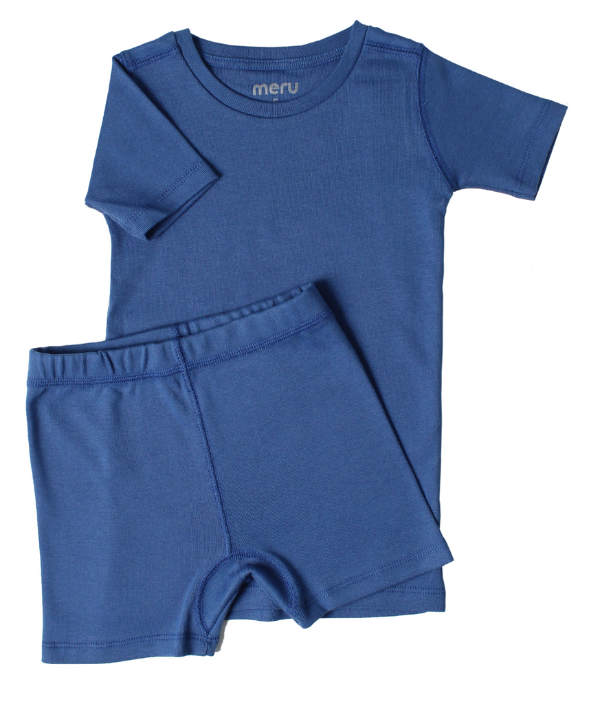 Short Pajama set Windfield Blue - Meru