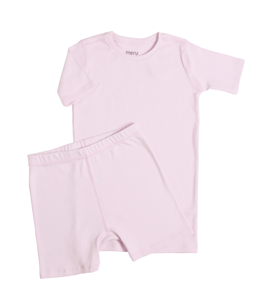 Short Pajama set Soft Pink - Meru