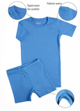 Short Pajama set Regatta Blue - Meru