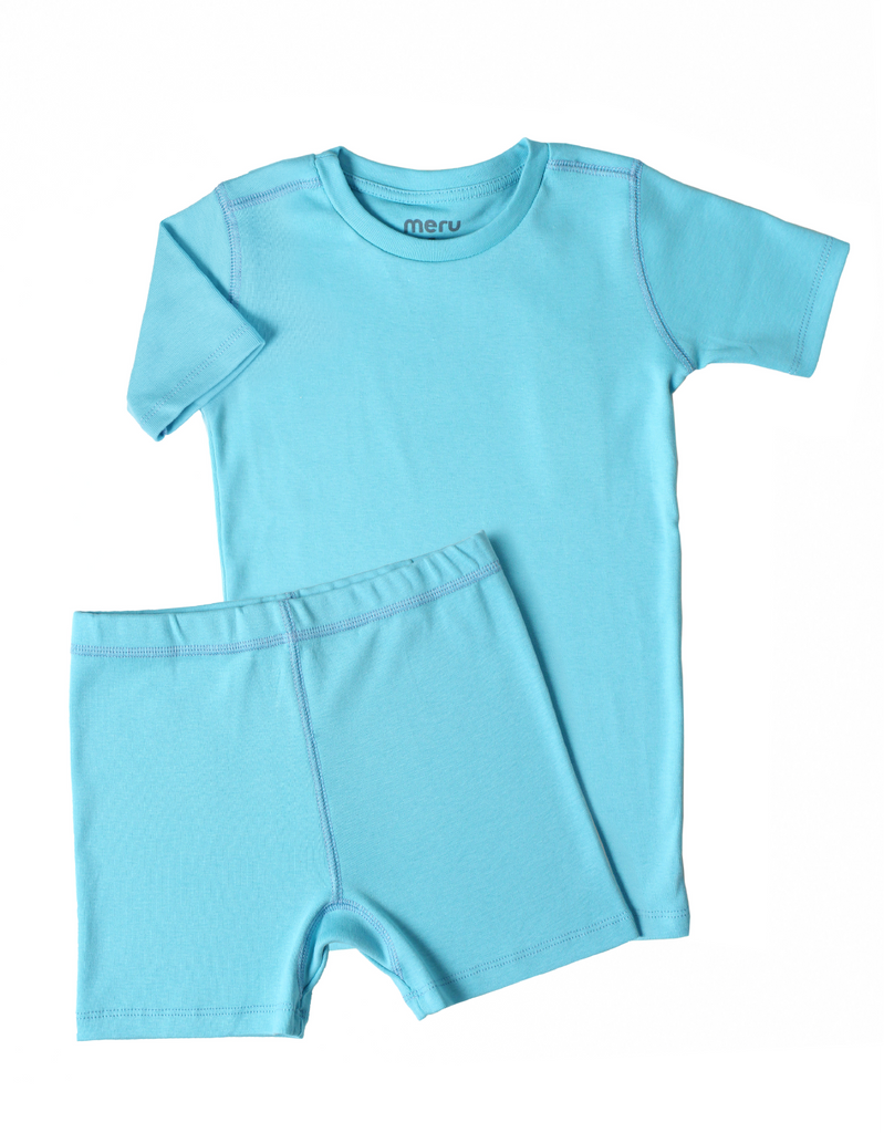Short Pajama set Belize Turquoise - Meru