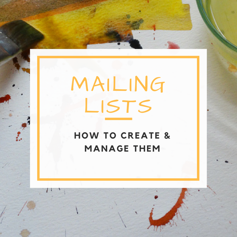 Managing Your Mailing Lists